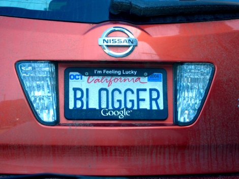 blogger registration plate number
